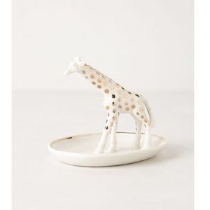 Anthropologie Ceramic Spotted Giraffe Jewelry Dish
